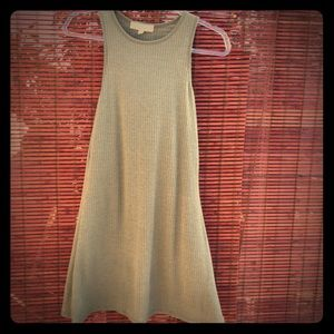 Love Tree Sleeveless Olive Knit Swing Dress Sz S